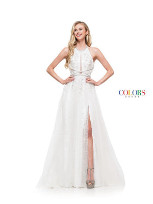 Colors Dress 2285 prom dress images.  Colors 2285 dresses are available in these colors: Navy, Rose Gold, Off White.