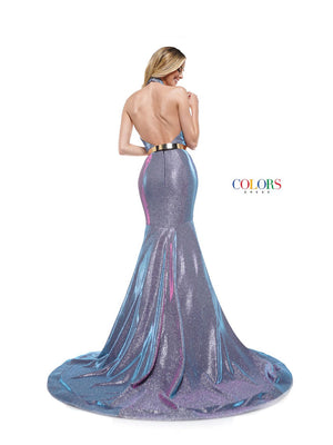 Colors Dress 2287 prom dress images.  Colors 2287 dresses are available in these colors: Aqua, Lilac, Rose Gold.