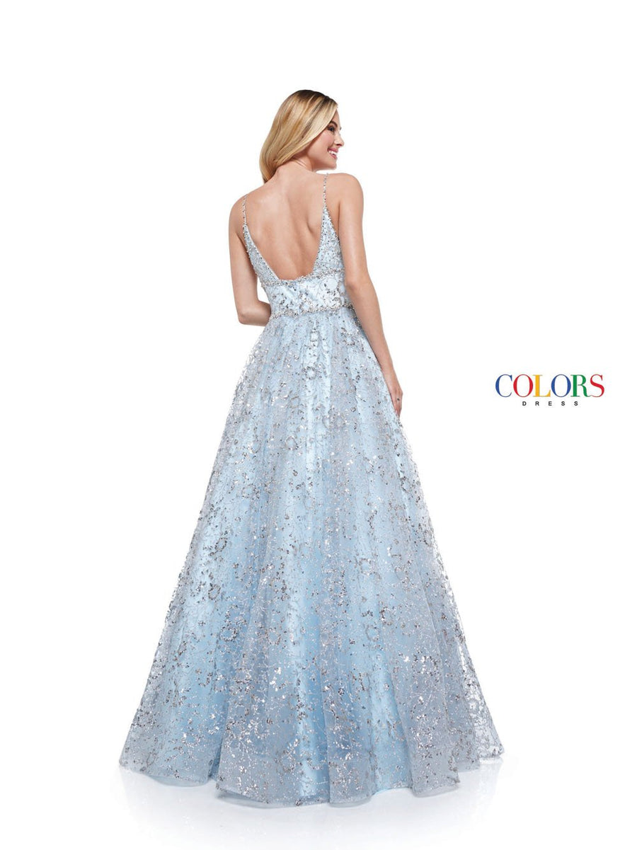 Colors Dress 2288 prom dress images.  Colors 2288 dresses are available in these colors: Light Blue, Hot Coral, Lime.