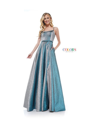Colors Dress 2290 prom dress images.  Colors 2290 dresses are available in these colors: Blue Multi, Pink Multi, Royal Multi.