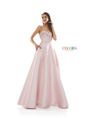 Colors Dress 2291 prom dress images.  Colors 2291 dresses are available in these colors: Blush, Deep Green, Navy.