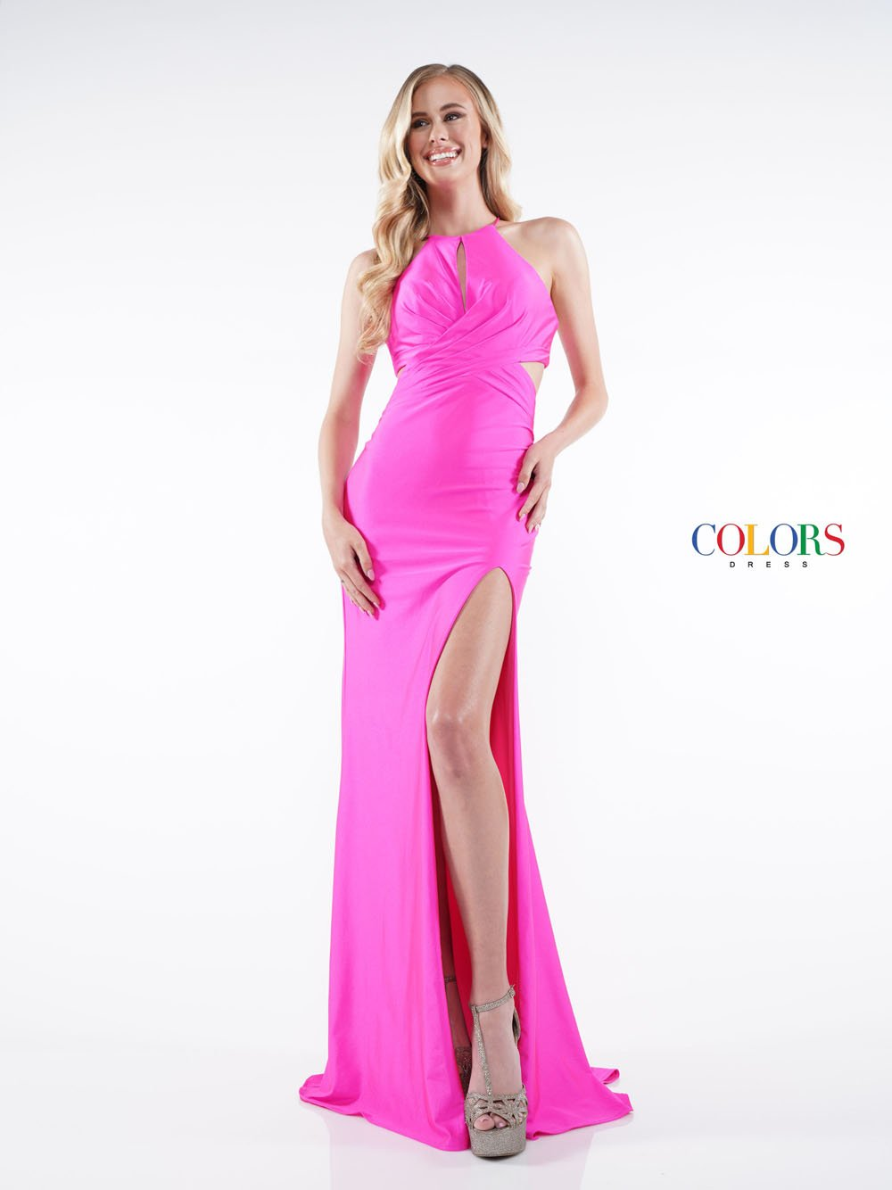 Colors Dress 2294 prom dress images.  Colors 2294 dresses are available in these colors: Hot Pink, Royal, Yellow.