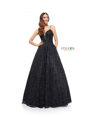 Colors Dress 2295 prom dress images.  Colors 2295 dresses are available in these colors: Black, Pink, Royal.