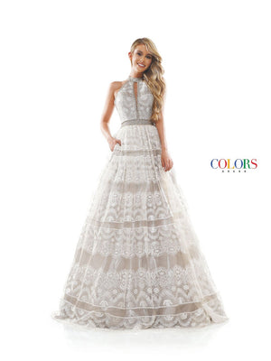 Colors Dress 2296 prom dress images.  Colors 2296 dresses are available in these colors: Off White, Seafoam.