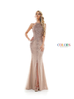 Colors Dress 2303 prom dress images.  Colors 2303 dresses are available in these colors: Nude, Navy, Pink.