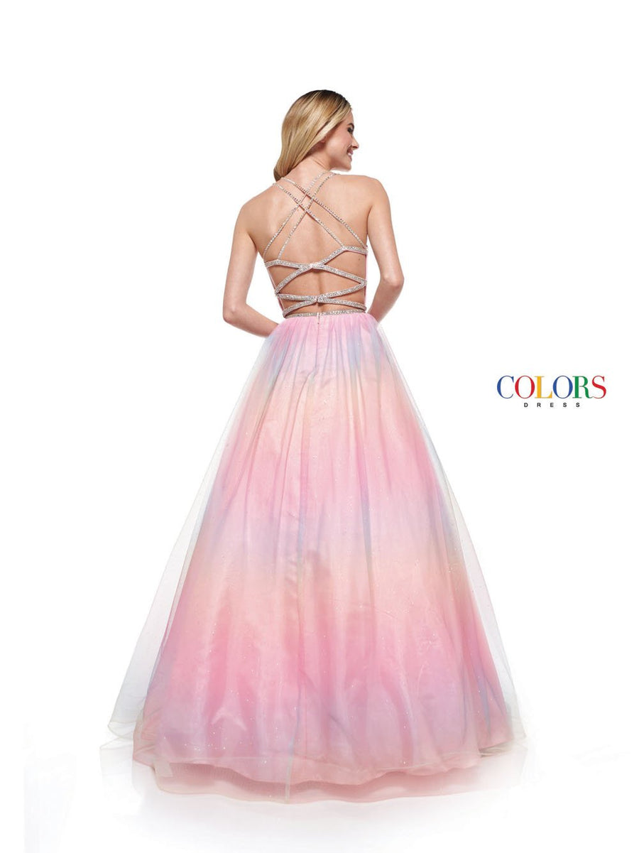 Colors Dress 2304 prom dress images.  Colors 2304 dresses are available in these colors: Light Blue, Light Pink, Light Yellow.