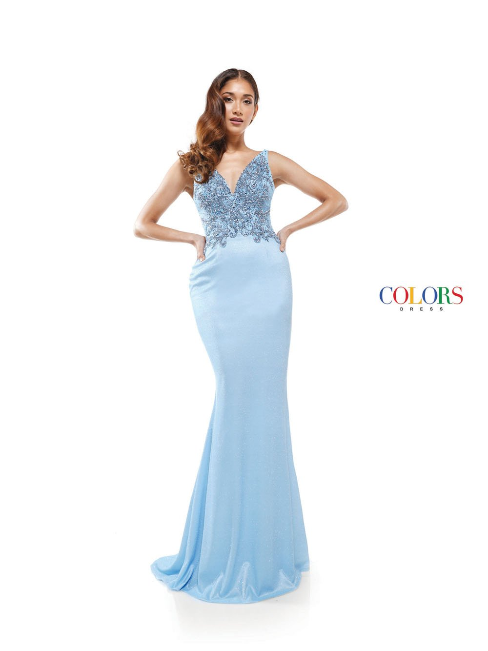 Colors Dress 2309 prom dress images.  Colors 2309 dresses are available in these colors: Light Blue, Navy, Off White.