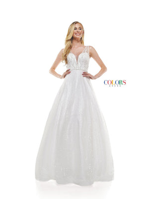 Colors Dress 2313 prom dress images.  Colors 2313 dresses are available in these colors: Off White.