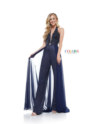 Colors Dress 2319 prom dress images.  Colors 2319 dresses are available in these colors: Navy, Pink, Off White.