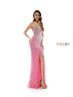 Colors Dress 2321 prom dress images.  Colors 2321 dresses are available in these colors: Coral, Lilac, Off White.