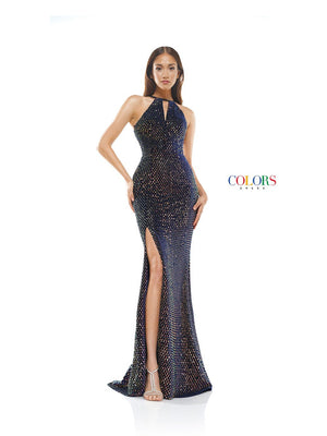 Colors Dress 2323 prom dress images.  Colors 2323 dresses are available in these colors: Navy.