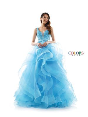 Colors Dress 2325 prom dress images.  Colors 2325 dresses are available in these colors: Cloud Blue, Hot Coral, Lilac.