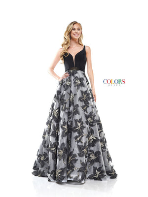 Colors Dress 2327 prom dress images.  Colors 2327 dresses are available in these colors: Black, Pink.