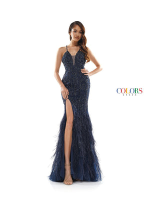 Colors Dress 2328 prom dress images.  Colors 2328 dresses are available in these colors: Nude, Navy.