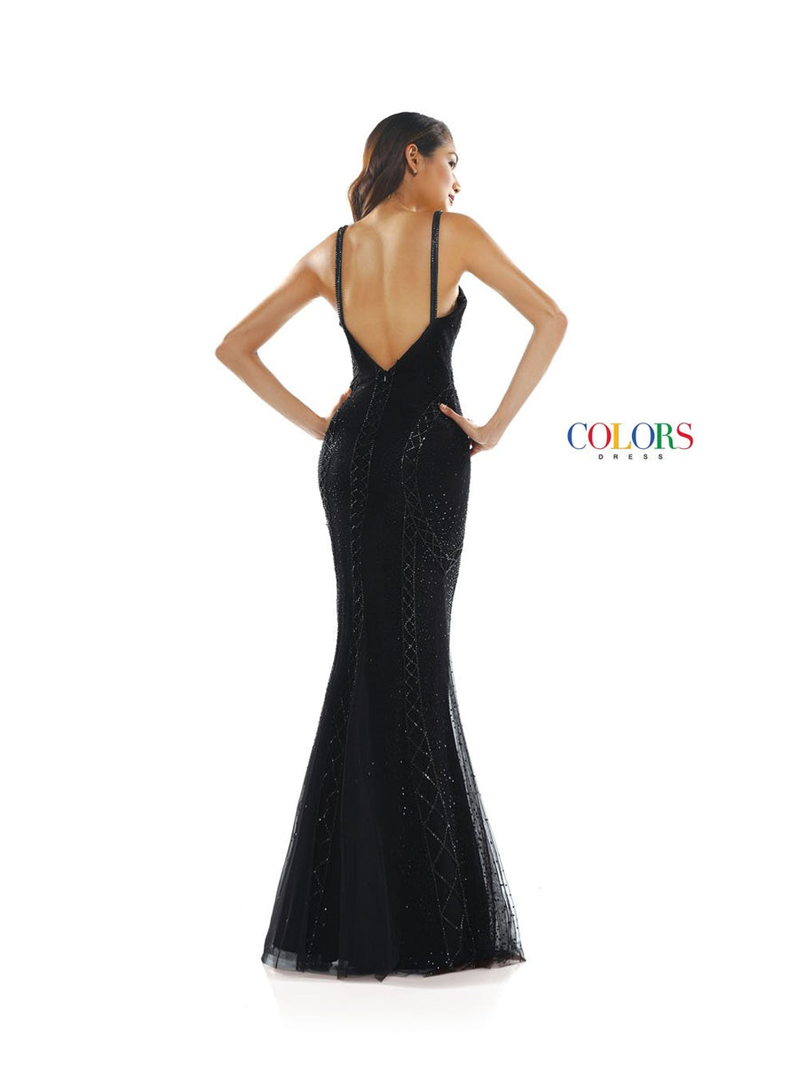 Colors Dress 2330 prom dress images.  Colors 2330 dresses are available in these colors: Black, Periwinkle.