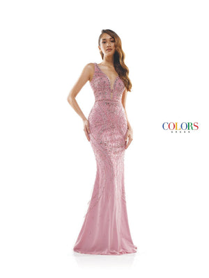 Colors Dress 2334 prom dress images.  Colors 2334 dresses are available in these colors: Coral, Slate Blue.