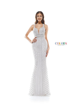 Colors Dress 2337 prom dress images.  Colors 2337 dresses are available in these colors: Ocean Blue, Gold, Lilac, Off White.