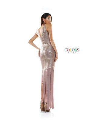 Colors Dress 2348 prom dress images.  Colors 2348 dresses are available in these colors: Bronze, Rose Gold, Silver.
