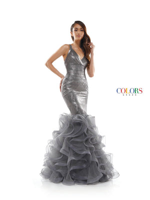 Colors Dress 2354 prom dress images.  Colors 2354 dresses are available in these colors: Gunmetal, Rose Gold, White.