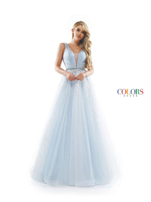 Colors Dress 2366 prom dress images.  Colors 2366 dresses are available in these colors: Light Blue, Lilac, Mauve.