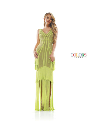 Colors Dress 2368 prom dress images.  Colors 2368 dresses are available in these colors: Lime, Neon Orange, Hot Pink, Turquoise, Off White.