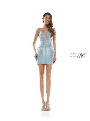 Colors Dress 2369 prom dress images.  Colors 2369 dresses are available in these colors: Light Blue, Gold, Pink.