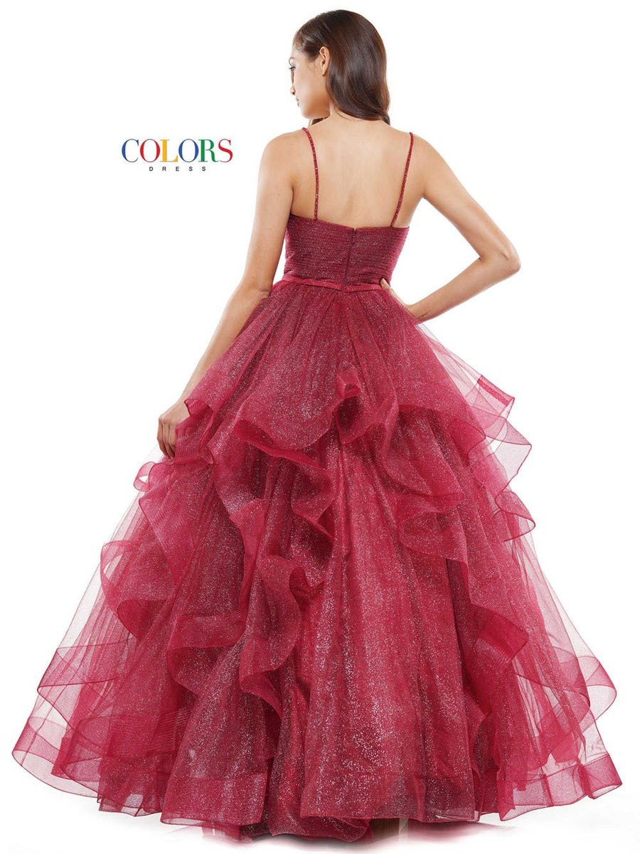 Colors Dress 2381 prom dress images.  Colors Dress 2381 is available in these colors: Blush, Cornflower, Garnet.