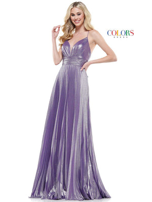 Colors Dress 2399 prom dress images.  Colors Dress 2399 is available in these colors: Hot Coral, Mint, Navy, Off White, Wisteria.