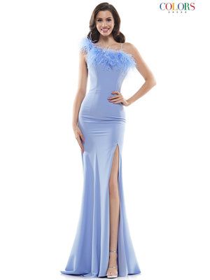 Colors Dress 2405 prom dress images.  Colors Dress 2405 is available in these colors: Light Blue, Black, Hot Pink.