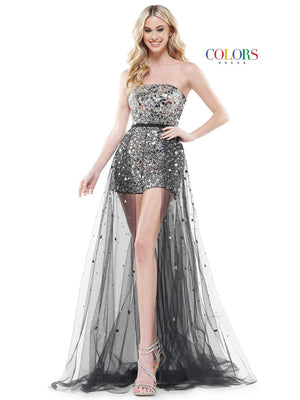 Colors Dress 2445 prom dress images.  Colors Dress 2445 is available in these colors: Black, Hot Pink, Lilac.