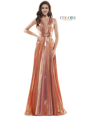 Colors Dress 2452 prom dress images.  Colors Dress 2452 is available in these colors: Emerald, Gold, Rose Gold.