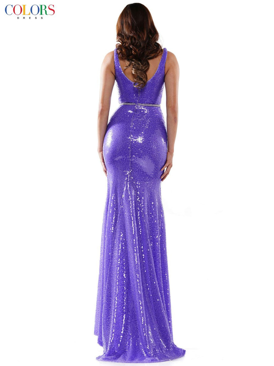 Colors Dress 2455 prom dress images.  Colors Dress 2455 is available in these colors: Iridescent, Violet, Navy.