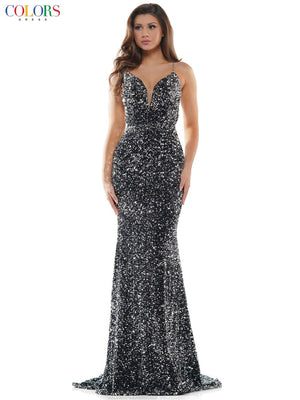 Colors Dress 2459 prom dress images.  Colors Dress 2459 is available in these colors: Hot Pink, Silver, Off White.