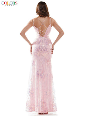 Colors Dress 2464 prom dress images.  Colors Dress 2464 is available in these colors: Light Blue, Light Pink, Mint.