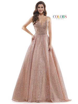 Colors Dress 2480 prom dress images.  Colors Dress 2480 is available in these colors: Light Blue, Mint, Rose Gold.