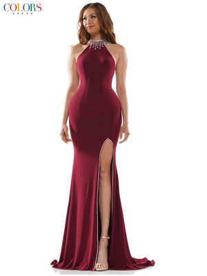 Colors Dress 2488 prom dress images.  Colors Dress 2488 is available in these colors: Black, Red, Royal, Wine.