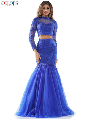 Colors Dress 2507 prom dress images.  Colors Dress 2507 is available in these colors: Hot Coral, Royal, Off White.