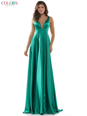 Colors Dress 2578 prom dress images.  Colors Dress 2578 is available in these colors: Champagne, Deep Green, Garnet, Navy.