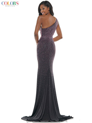 Colors Dress 2647 prom dress images.  Colors Dress 2647 is available in these colors: Black Clear, Black Green, Black Pink.