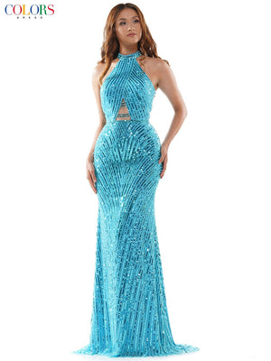 Colors Dress 2655 prom dress images.  Colors Dress 2655 is available in these colors: Navy, Rose Gold, Turquoise.