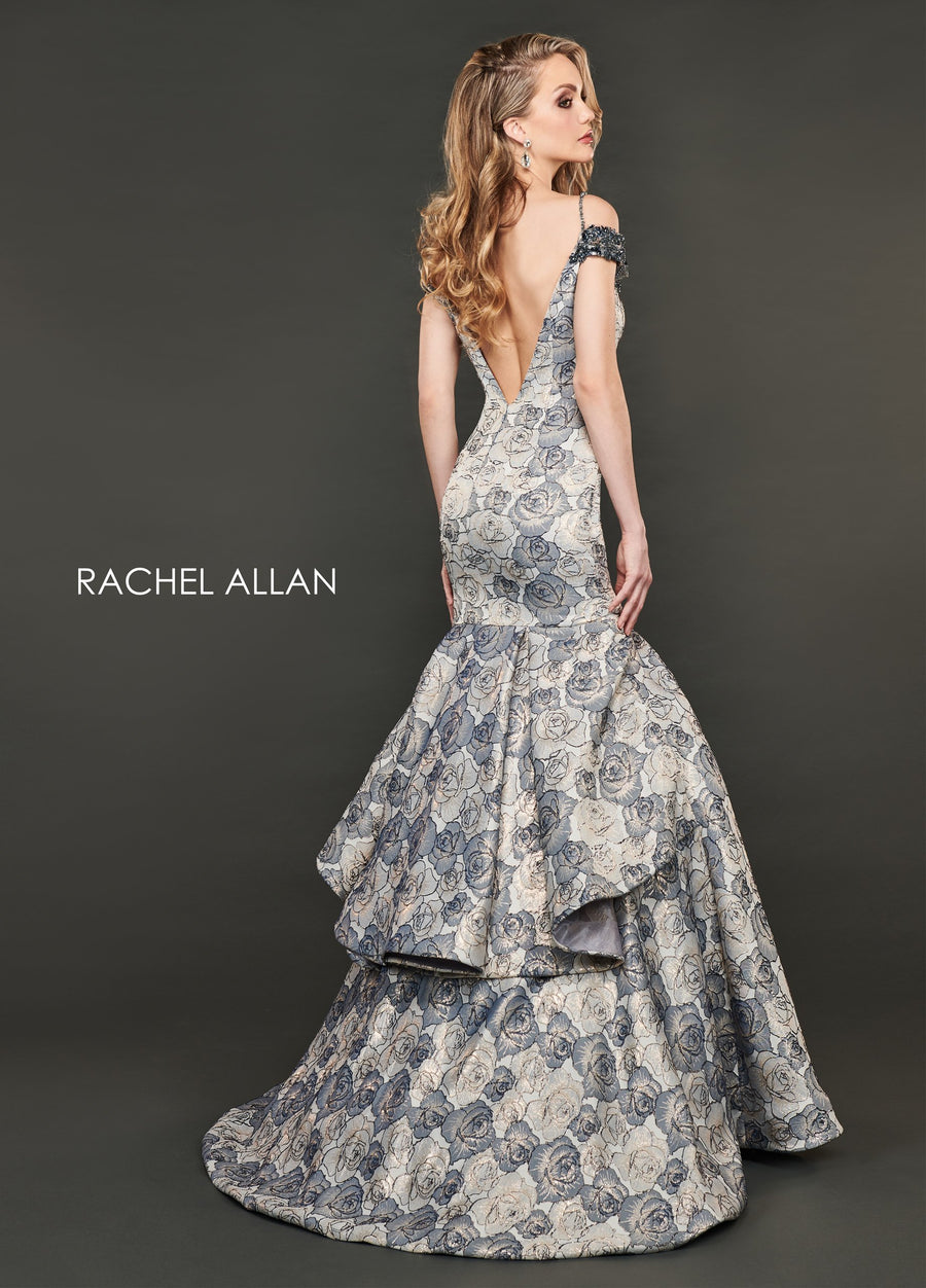 Rachel Allan 8401 prom dress images.  Rachel Allan 8401 is available in these colors: Navy Gold,Champagne Rose Gold.