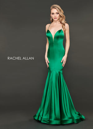 Rachel Allan 8408 prom dress images.  Rachel Allan 8408 is available in these colors: Emerald,Burgundy.