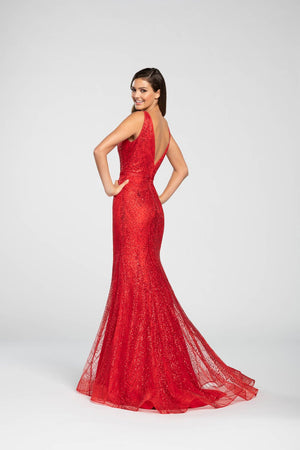 Ellie Wilde EW119004 prom dress images.  Ellie Wilde EW119004 is available in these colors: Rose Gold, Ocean Blue, Navy Blue, Red, Charcoal.