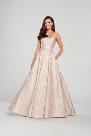 Ellie Wilde EW119013 prom dress images.  Ellie Wilde EW119013 is available in these colors: Mint, Light Blue, Petal.