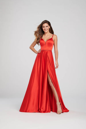 Ellie Wilde EW119030 prom dress images.  Ellie Wilde EW119030 is available in these colors: Royal Blue, Red, Black, Light Yellow.