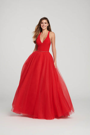 Ellie Wilde EW119090 prom dress images.  Ellie Wilde EW119090 is available in these colors: Red, Hot Pink, Indigo, Black.