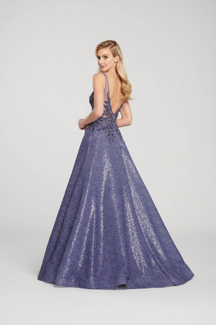 Ellie Wilde EW119128 prom dress images.  Ellie Wilde EW119128 is available in these colors: Slate.