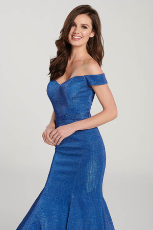 Ellie Wilde EW119142 prom dress images.  Ellie Wilde EW119142 is available in these colors: Royal Blue, Black.