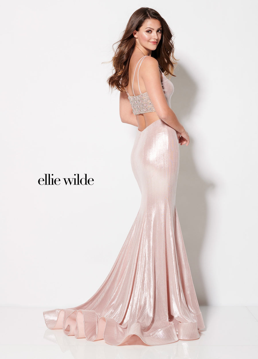 Ellie Wilde EW21957 prom dress images.  Ellie Wilde EW21957 is available in these colors: Petal.