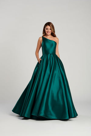 Ellie Wilde EW120033 prom dress images.  Ellie Wilde EW120033 is available in these colors: Emerald, Red, Navy Blue .